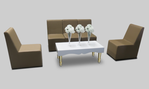 Avalon Chic Rectangular Gold Coffee Table setup with Dark Beige Chameleon Single Chairs 2 510x306 - Avalon Chic Rectangular Gold Coffee Table