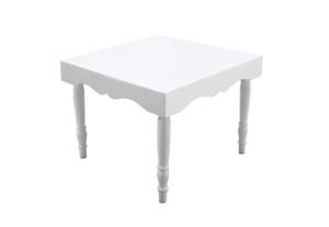 Avalon Chic Square White Dining Table 1 300x207 - Avalon Chic Square White Dining Table