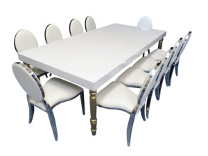 Avalon Dining Table with Chrome Dior 2 300x225 - Avalon Grand Gold Dining Table