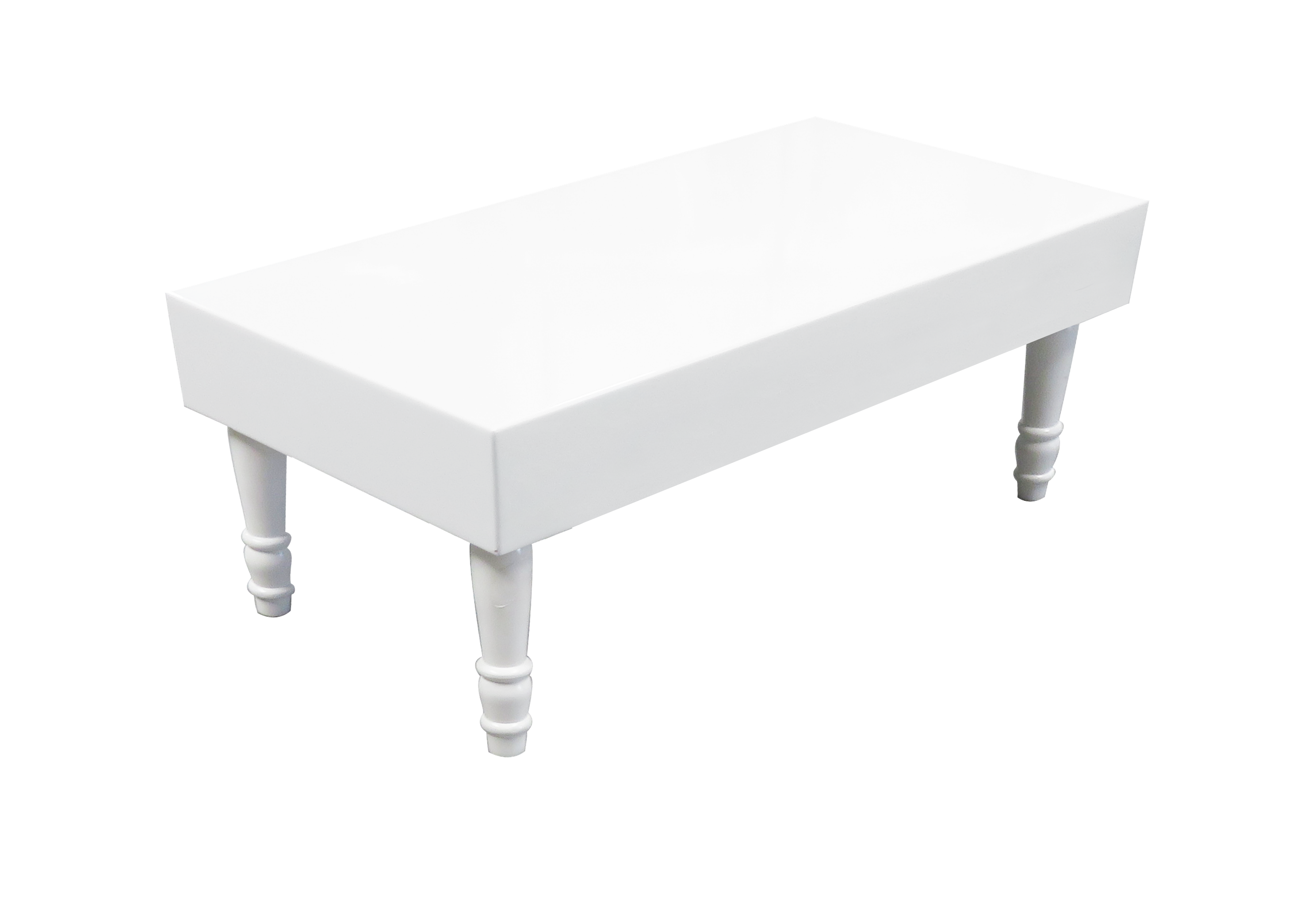 Avalon Rectangular White Coffee Table available for rent or sale