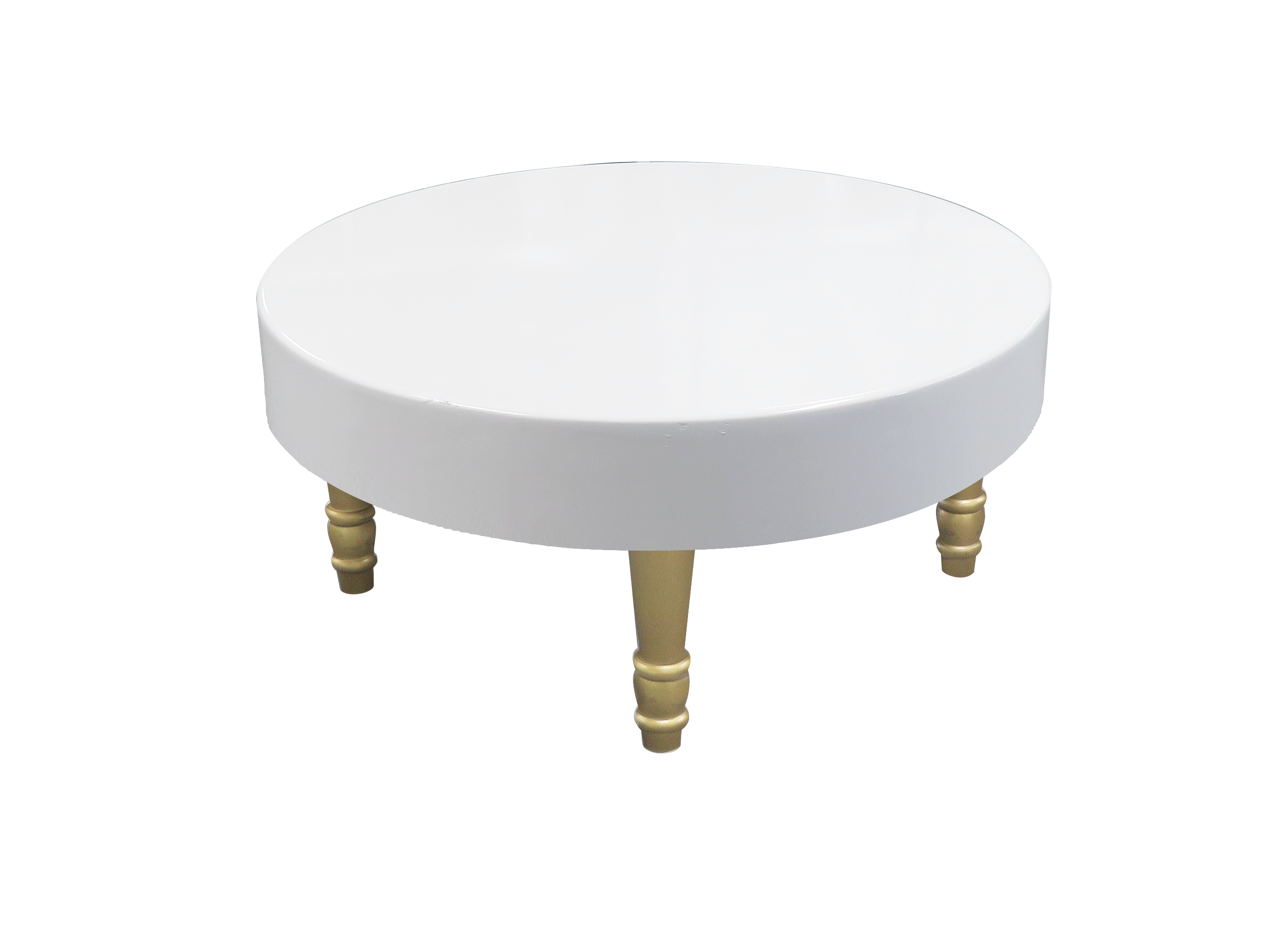 Avalon Round Gold Coffee Table is available for rent or sale in