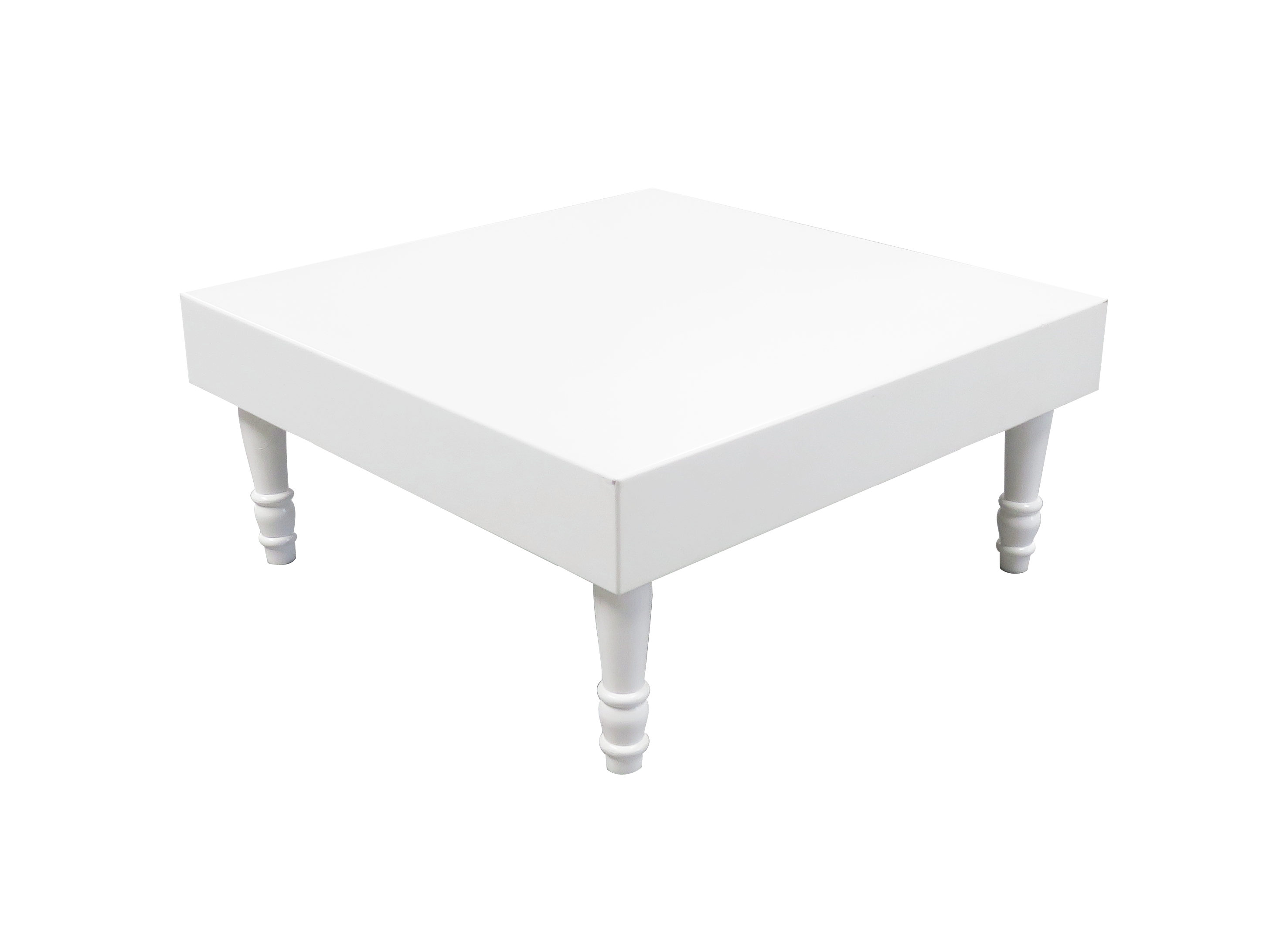 Avalon Square White Coffee Table is available for rent or sale in