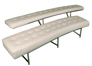 leather bench, bench