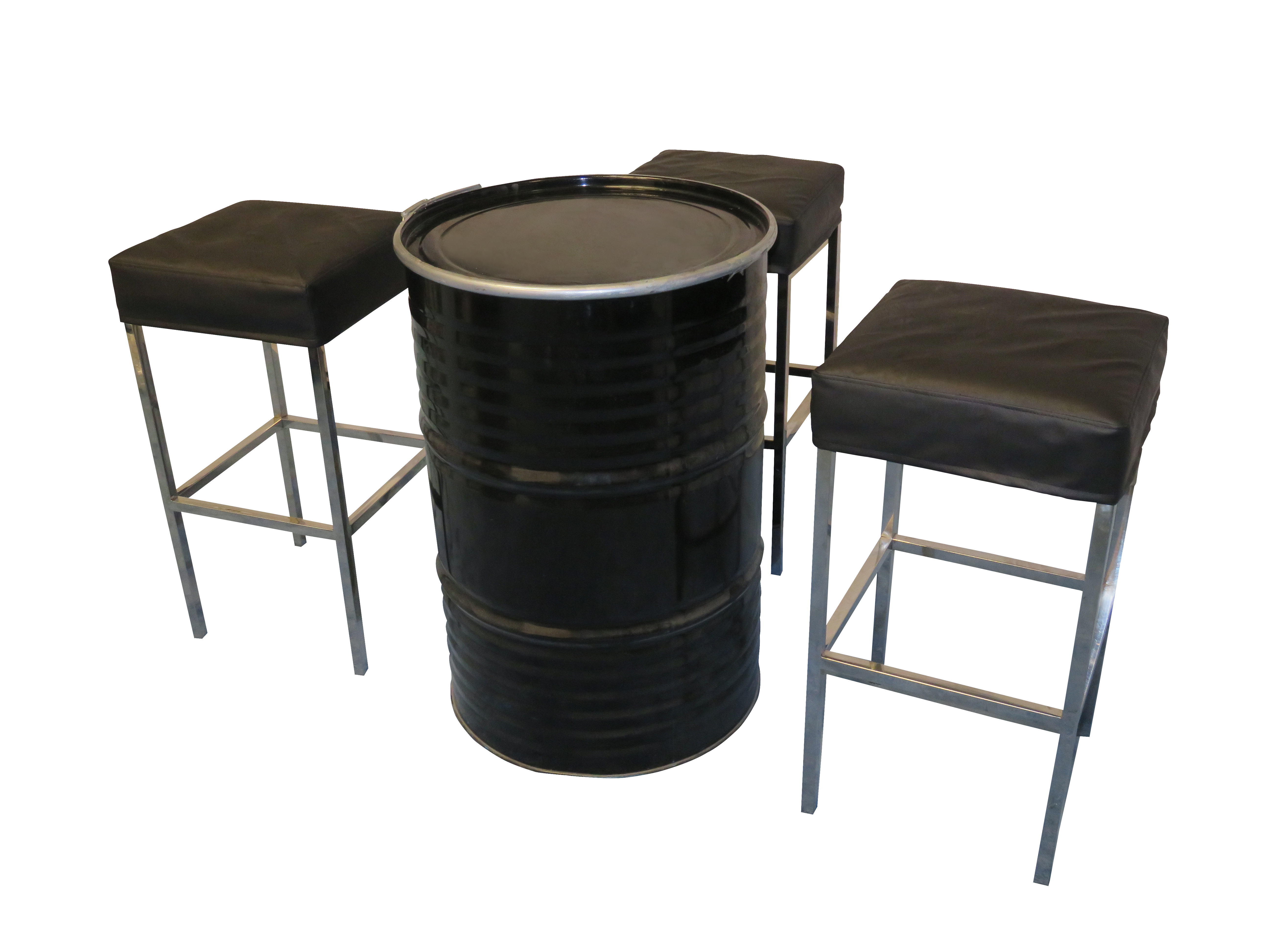 Rent Or Buy Black Barcelona Bar Stool Event Rental Dubai  : Black Barcelona Bar Stool with Collins Drum Cocktail Table from areeka.ae size 5184 x 3888 jpeg 3259kB