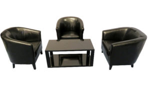 Black Buckeg Chair setup 1 300x173 - Black Bucket Chair