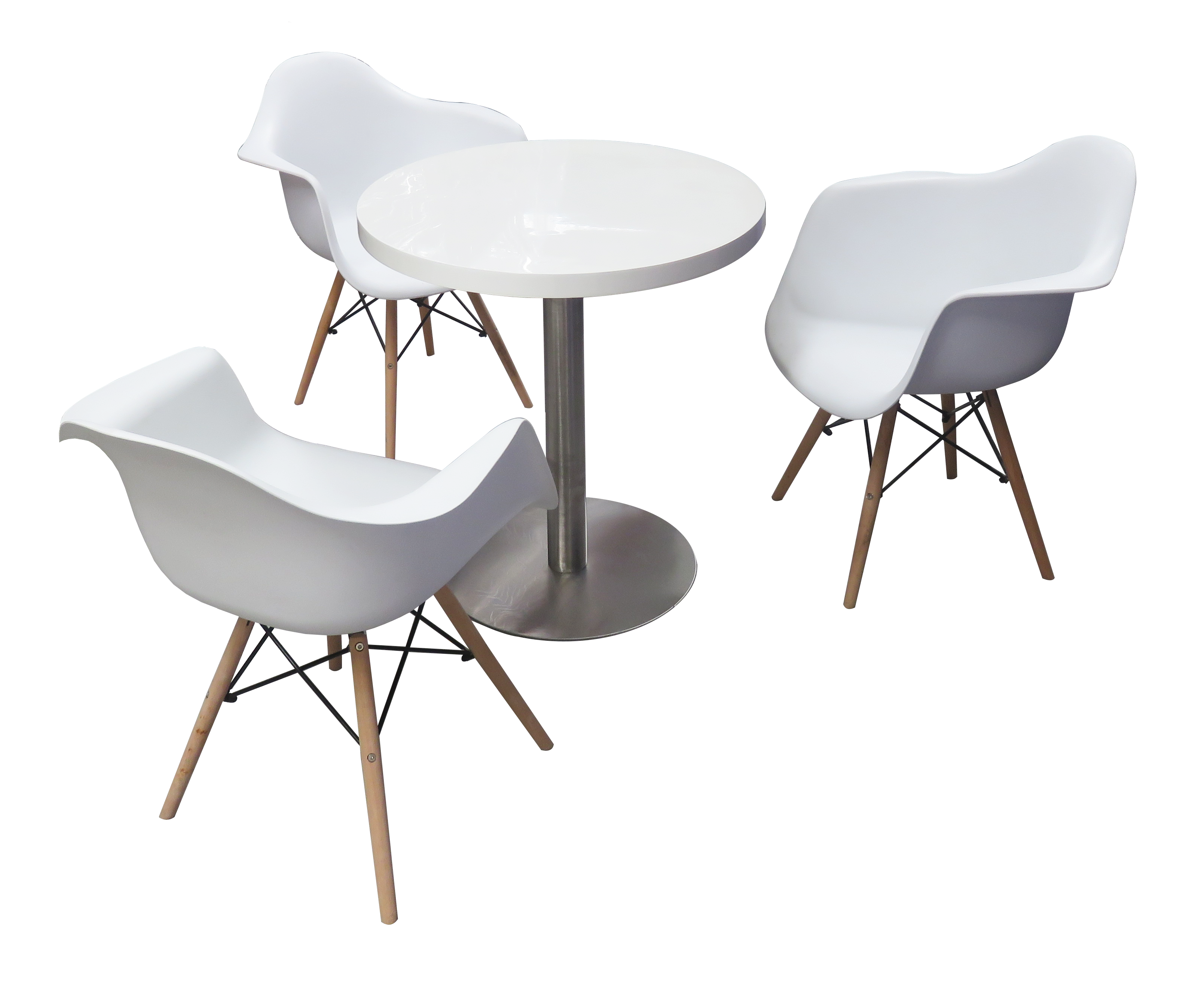 Cafe table and chairs png - Blanc Cafe Table