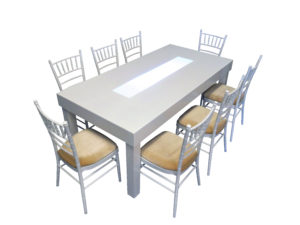 Clement Dining Table with White Chiavari Chairs 1 300x225 - Clement Dining Table