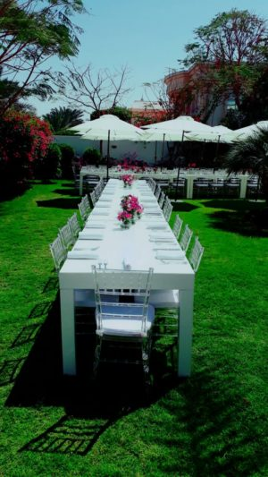 Clementine Dining Table Set Up 2 2 300x533 - Clear Acrylic Chiavari Chair