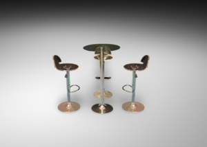 Colada glass cocktail table with pina acrylic bar stools 2 R 2 300x214 - Pina Acrylic Bar Stool