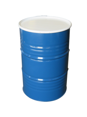 Collins Drum Cocktail Table - Blue and White