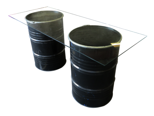 Collins Drum Glass Cocktail Table 1 510x385 - Double Collins Glass High Table