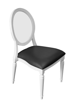 Ghost Diork Dining Chair Black | Buy or Rent Furntiture in UAE | Areeka Even Rentals