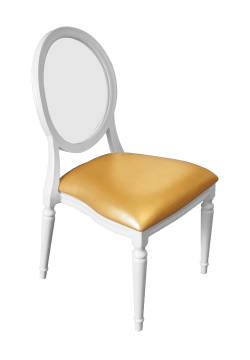 Ghost Diork Dining Chair Gold | Buy or Rent Furntiture in UAE | Areeka Even Rentals