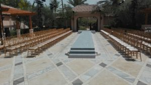 Gold Chiavari Chair, Corporate Event, Outdoor setup, Runway