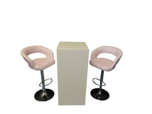 High Ress Bar Stool with Le Minou Cocktail Table with Glass Top 1 300x225 - High Ress Bar Stool