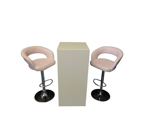 High Ress Bar Stool with Le Minou Cocktail Table with Glass Top 1 510x383 - High Ress Bar Stool