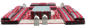 Low Arabic Seating Pattern 1 Setup 7 300x100 - Arabic Majlis Mattress #1