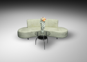Oasis sofa with round glass coffee table 1 300x214 - Oasis Sofa