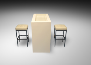 Oxford high table with barcelona bar stools 1 300x214 - Oxford High Table
