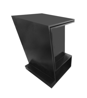 Podium Black 300x336 - Pharsa Black Lectern