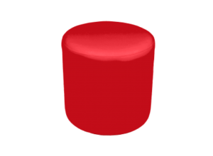 Roma Round Pouffe Red e1512643158513 1 300x220 - Roma Round Pouffe - Red