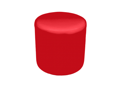 Roma Round Pouffe - Red