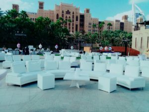 Serpent Modular Sofa, Canterbury Square Coffee Table, Colin Cube table, Outdoor Furniture, Lounge Setup