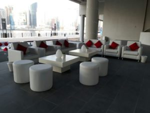Sophie Sofas Event Set Up 2 4 300x225 - Roma Round Pouffe