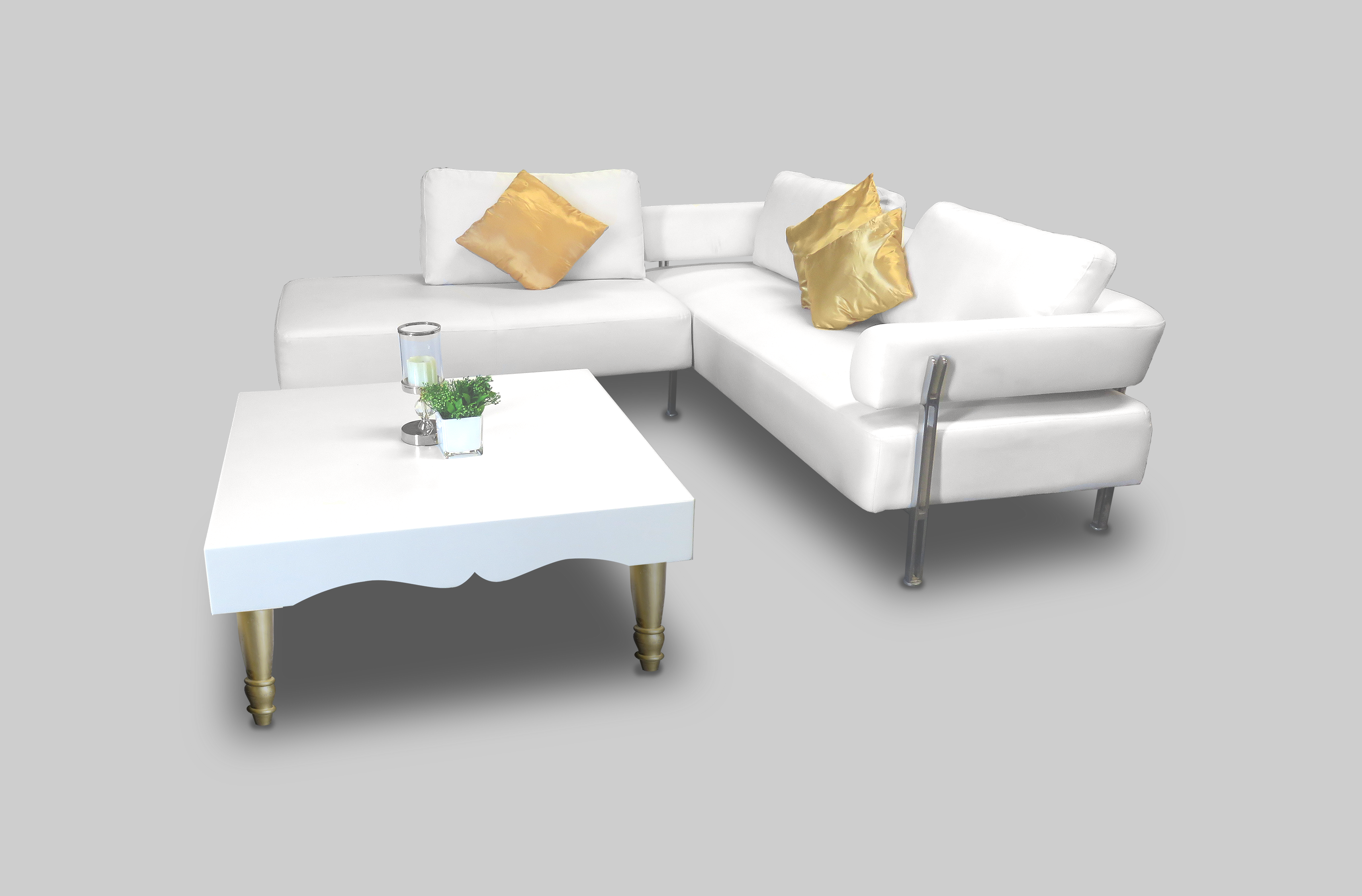 Avalon Chic Square Gold Coffee Table for rent or sale in Dubai