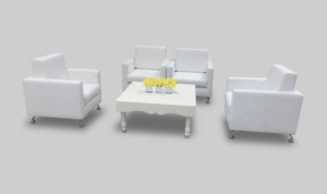 avalon chic square white coffee table setup with sophie single armchairs 1 300x178 - Avalon Chic Square White Coffee Table