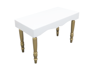 avalon curved rectangular gold dining table 1 300x228 - Avalon Chic Rectangular Gold Dining Table