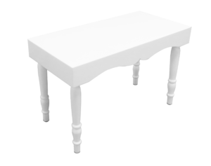 avalon curved rectangular white dining table 1 300x237 - Avalon Chic Rectangular White Dining Table