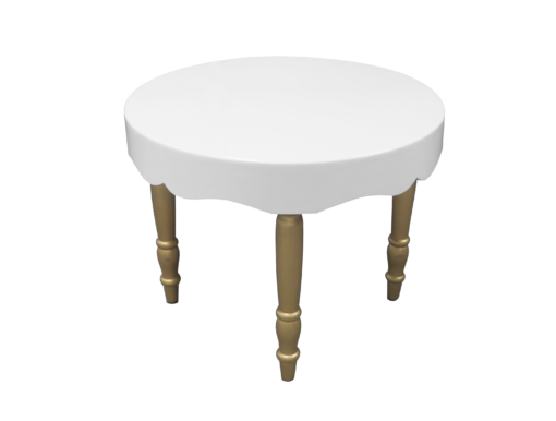 avalon curved round gold dining table 1 510x386 - Avalon Chic Round Gold Dining Table