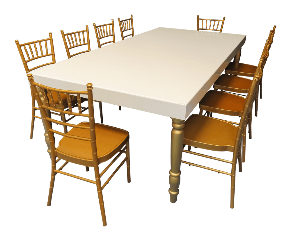 Gold Dining Tables ~ Avalon grand gold dining table on rent or sale dubai uae