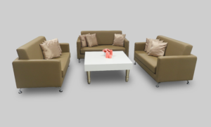 avalon square gold coffee table setup with charlene 2 seater sofas 3 2 300x181 - Avalon Square Gold Coffee Table