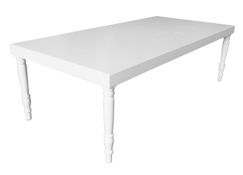 Avalon Grand White Dining Table