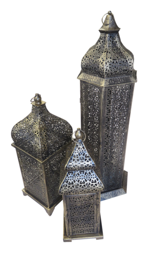 brass arabic lamps 2 300x513 - Medium Brass Arabic Lamp