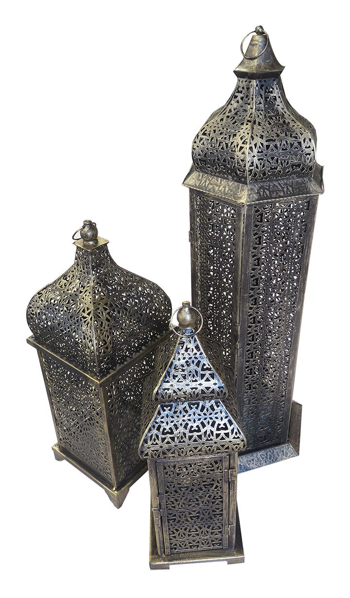 Large Brass Arabic Lamp Available For Rent Or Sale In