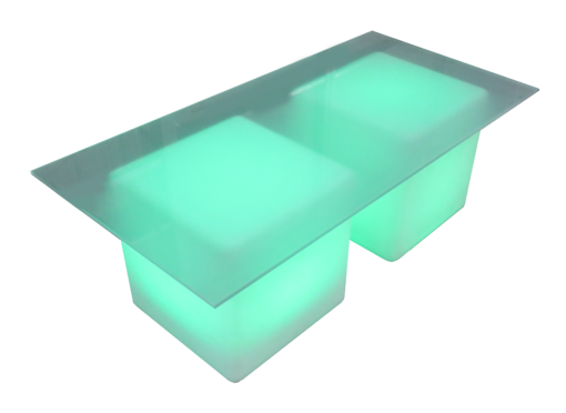 frosted rectangular led cube 1 510x372 - Lumiere LED Vertex Coffee Table