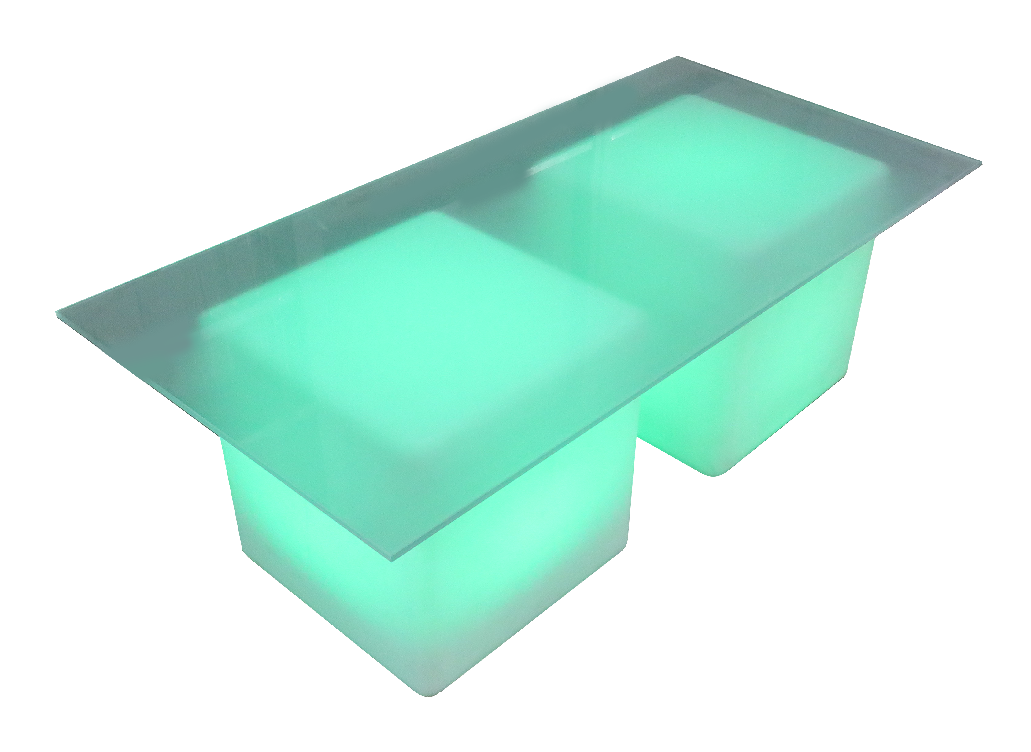 LED Glass Coffee Table For Rent Or Sale In UAE For Any Event Type - Led coffee table for sale