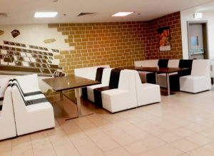 Chameleon Single Seater, Chameleon Single Seater with black cover, Indoor Setup, Corporate Event