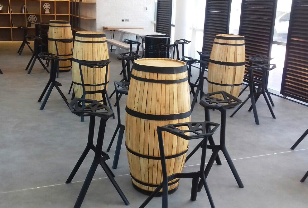 Rent Or Buy Provinzia Wooden Barrel Cocktail Table Event