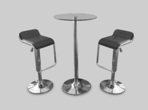 toledo car stool black with colada cocktail table 2 1 300x222 - Toledo Black Bar Stool
