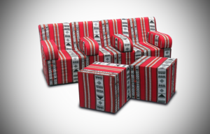 2017 april arabic cube 2 setup 2 300x192 - High Arabic Majlis 3 Seater Sofa with Individual Arms