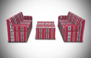 2017 april arabic cube 4 setup 1 2 300x193 - High Arabic Majlis 3 Seater Sofa with Individual Arms