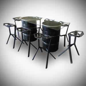 2017 april cocktail table double barrel 1 300x300 - Collins Vertex Glass High Table - Black