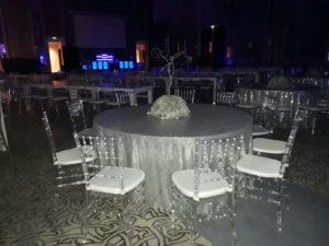 Acrylic Chiavari Chairs Set Up 2 1 300x225 - Clear Acrylic Chiavari Chair