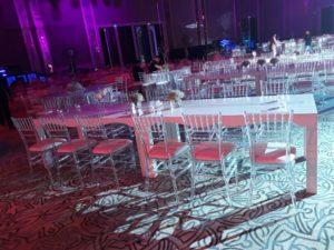 Acrylic Chiavari Chairs Set up 3 1 300x225 - Clear Acrylic Chiavari Chair