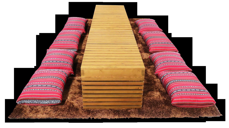 Braun Pallet Rectangular Coffee Table Areeka Event Rentals