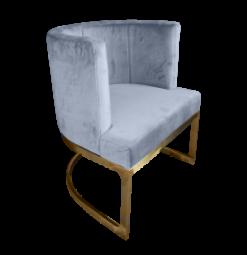 gray velvet chair, velvet bucket chair, gray chair, gray dining chair, velvet dining chair